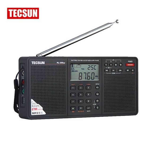 Tecsun PL-398MP Радио FM & Full Band Mp3-плеер Цифровой Тюнинг DSP Stereo/MW/SW/LW Приемник SD Карты Спикер MP3 Воспроизведение