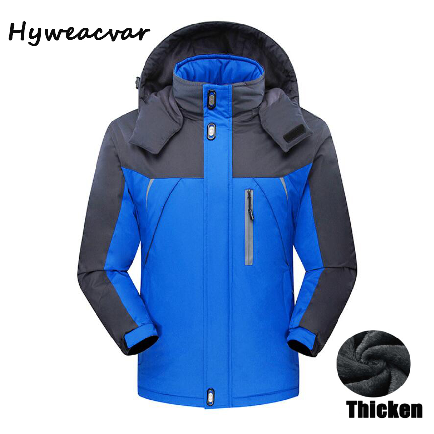 HYWEACVAR WINTER JACKET MEN'S PLUS SIZE 6XL,7XL,8XL,9XL OUTWEAR FLEECE THICKEN WARM WATERPROOF WINDPROOF JACKET PARKA COAT men plus size 4xl 5xl 6xl 7xl 8xl 9xl winter pant sport fleece lined softshell warm outdoor climbing snow soft shell pant