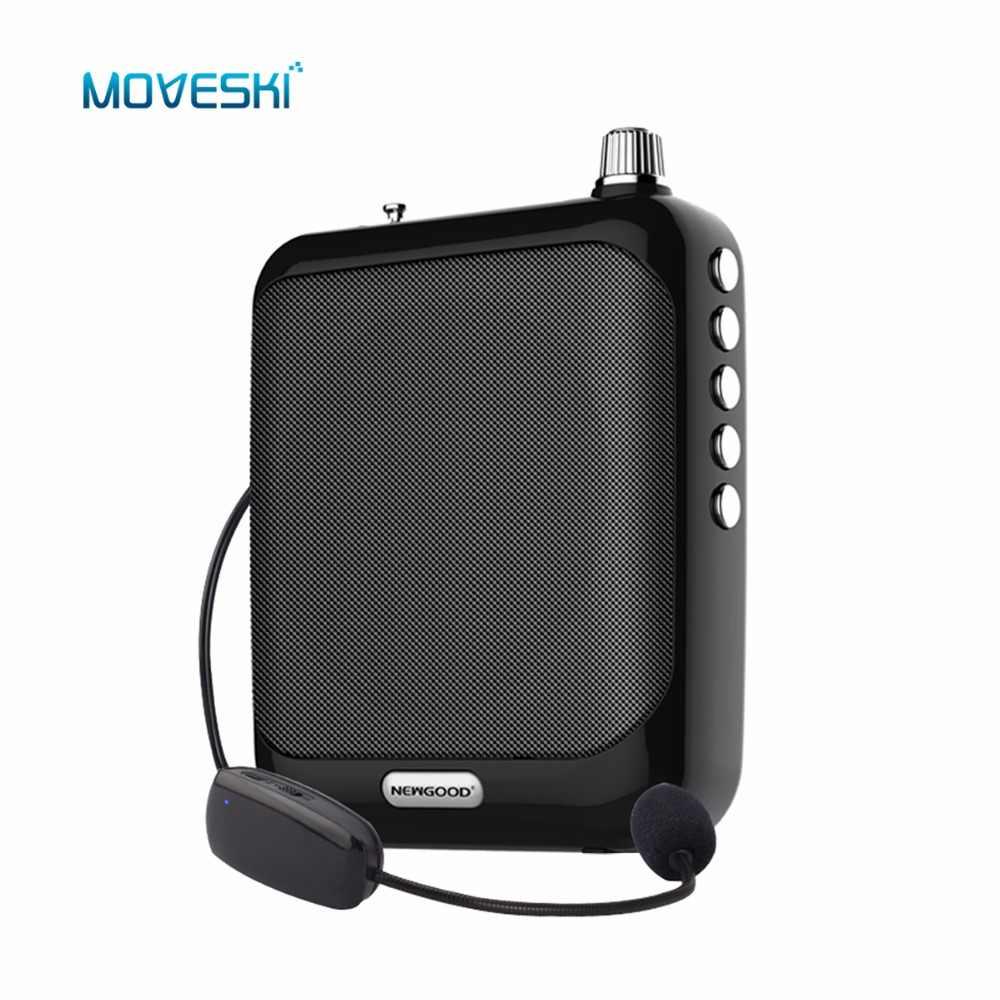 Moveski N511 音声アンプメガホンブースターマイクミニ Usb TF カード、 fm ラジオ教師ツアーガイド