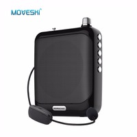 Moveski N511 Voice Amplifier Megaphone Booster Microphone Mini Portable Speaker with USB TF Card FM radio for Teacher Tour Guide