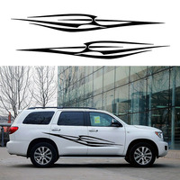 2 X Simple Abstract Striped Decorative Art Branch Spears Life Car Sticker For SUV Camper Van