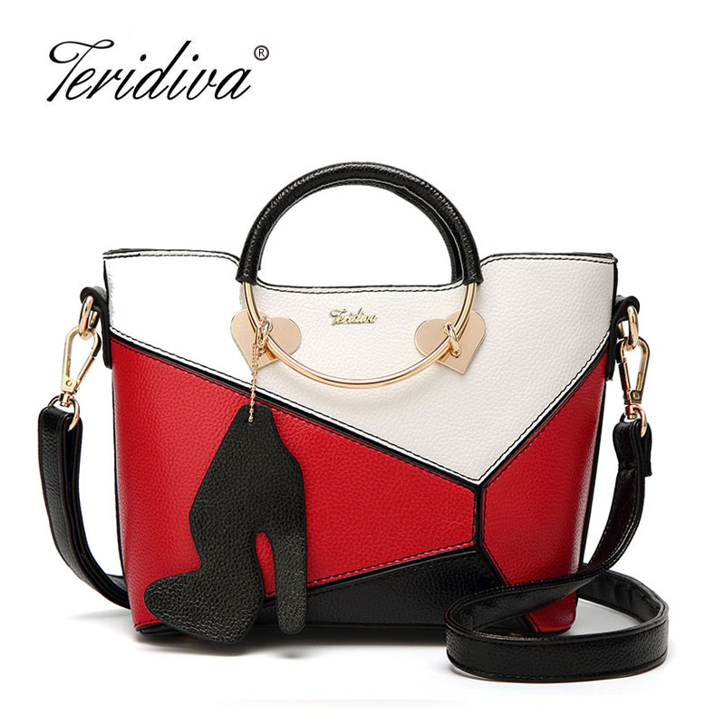 Teridiva New Women Messenger Bag Casual Ladies Party Purse Clutches Fashion Patchwork Small Tote Bag Sweet Female Shoulder Bags 2017 women small messenger bag fashion clutches ladies handbag with tassel female crossbody bag lady purse shoulder bags