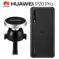 HUAWEI P20 Pro Case Original Official Navigation Kit HUAWEI P20 Case Magnetic Leather Back Cover + Car Magnetic Phone Holder