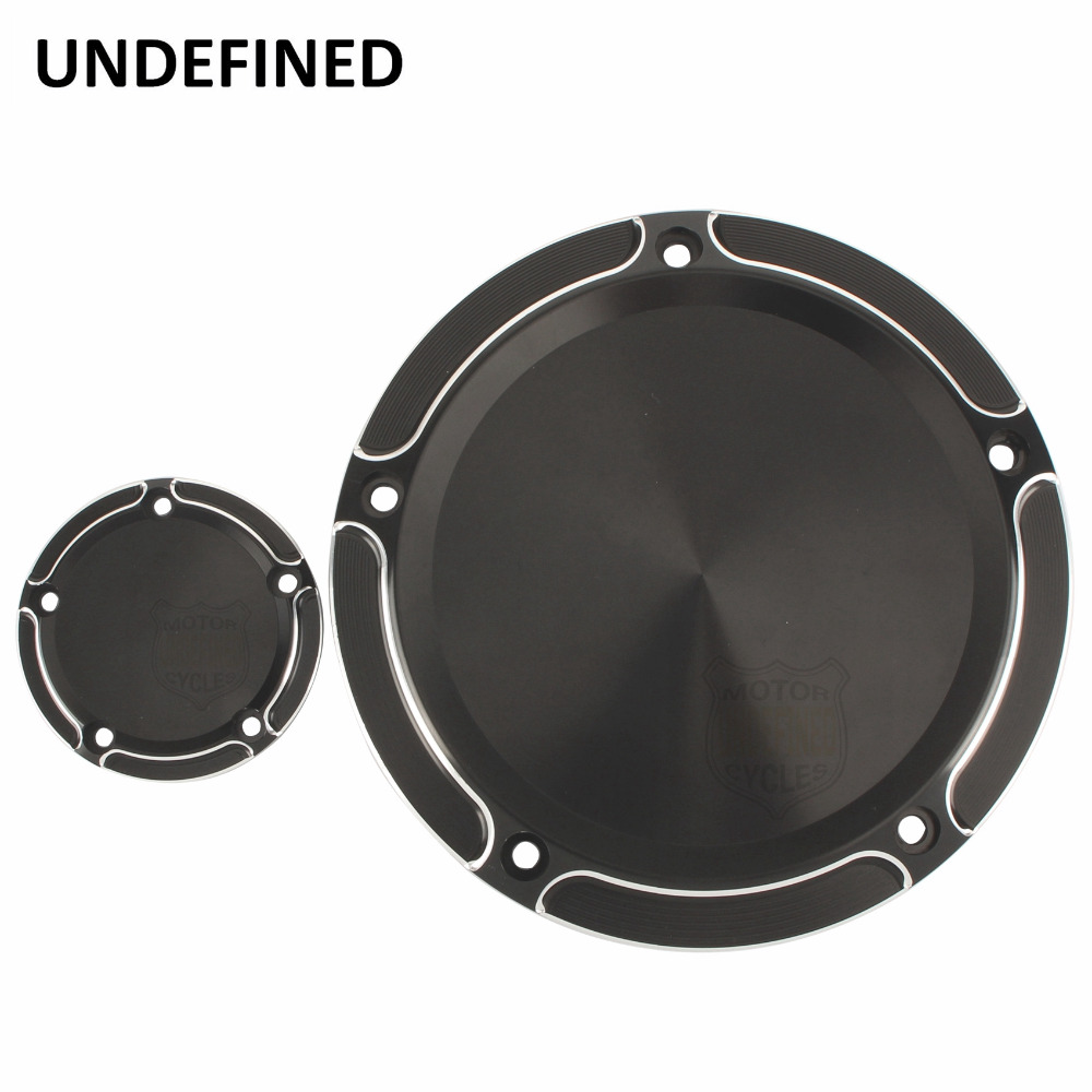 Black Motorcycle Parts CNC Aluminum Beveled Derby Timing Timer Covers For Harley Touring Dyna Softail Road King FLHTC UNDEFINED