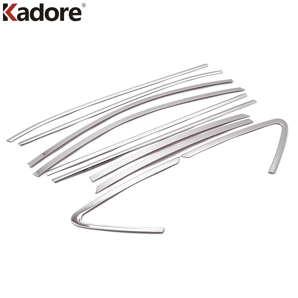 Kadore Fit For Hyundai Tucson ix35 2010 2011 Stainless Steel Car Styling Auto Full Window Cover Trim Garnish Strips 10PCS/SET