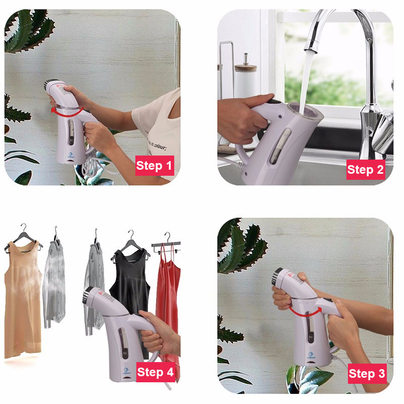 Купить с кэшбэком 220V /110V  Garment Steamer Portable Clothes Steam Iron for  Travel  and Home Powerful Brush Ironing Handheld Remove Wrinkles