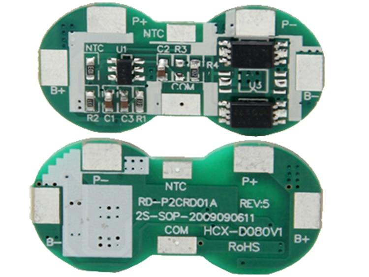 10PCS/lot 2S 6A Li-ion 8.4V 18650 DIY BMS PCM battery protection board bms pcm f
