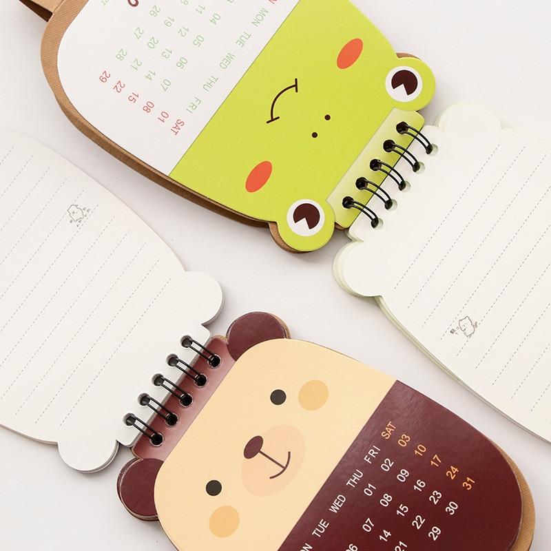 Reasonable Cute Small Diy Animal Pink Pig Bear Panda 2018 Year Calendar For School Office Supplies To Do List Desk Planner Calendar Gift Easy To Use Calendar