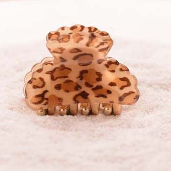 (4.5cm) Fashion Acrylic Leopard Print Pattern Hair Claws Hair Accessories For Girls Hair Ornaments