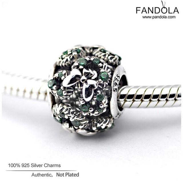 Mickey rato dos desenhos animados de férias grinalda charme serve pandora pulseiras de prata esterlina 925 jóia com frete grátis verde moda