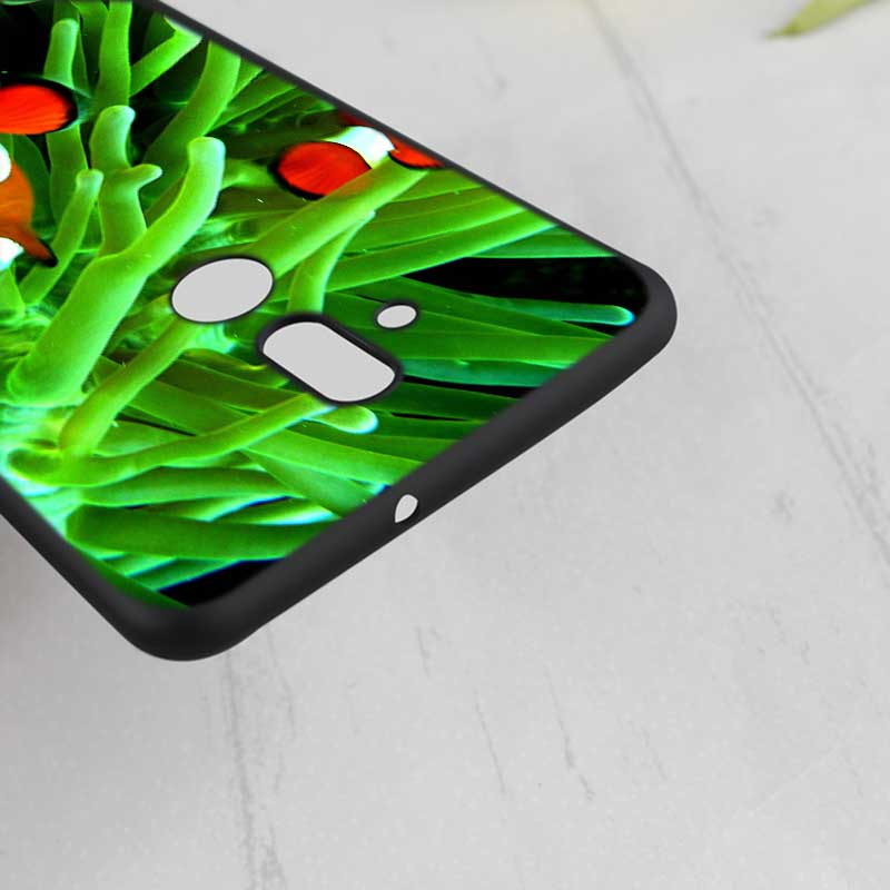 For Huawei Honor Mate 7C 7A 8 8X 9 9N 10 20 Nova 3 3e 3i Pro Lite Black Silicon Phone Case Green natural cute plant Style in Fitted Cases from Cellphones Telecommunications
