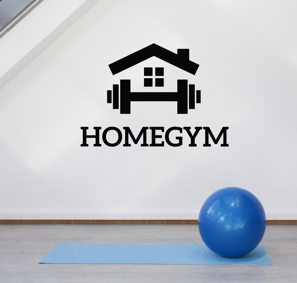 Motivação de Fitness Esportes Ginásio em casa Decoração Da Parede Decalques Adesivos para Decoração de Quarto Quarto Art Decalque Murais de papel de Parede Removível Z831