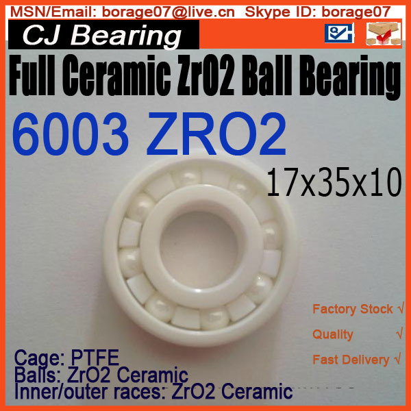 Full Ceramic bearing 6003 ceramic ball bearing zro2 61916 6916 zro2 full ceramic bearing 80x110x16mm