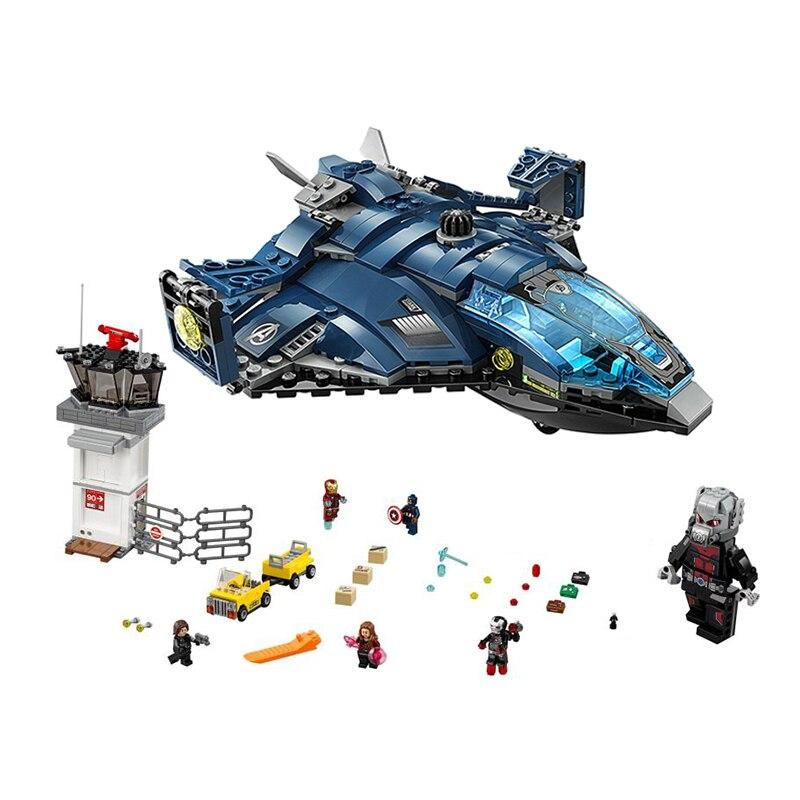 Aeroporto di Battaglia Compatibile Legoing Marvel 76051 Avengers Capitan America Super Heroes Building Blocks Giocattoli Ragazzo Regali Di Compleanno-in Blocchi da Giocattoli e hobby su  Gruppo 1