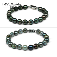 MYDEAR Fine Pearl Bracelet Fashionable Natural 8-9mm Pearls Stone Beads Bracelet,High Luster Pearls Charms For Jewelry Making