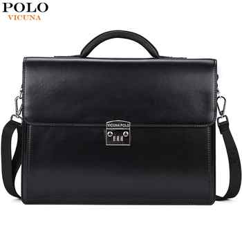 VICUNA POLO Luxury Business Mens Briefcase With Code-Lock High Quality OL Business Man Bag Italy Brand pasta executiva masculino - DISCOUNT ITEM  50% OFF All Category