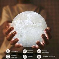 2 шт. 3D принт моделирование Moon ночник зарядка через usb Touch Управление