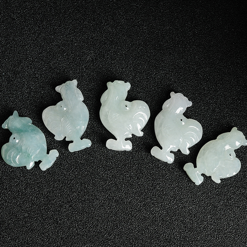 Natural A grade chicken Zodiac jadeite pendant 100% real lucky Diy pendant 1 pieces