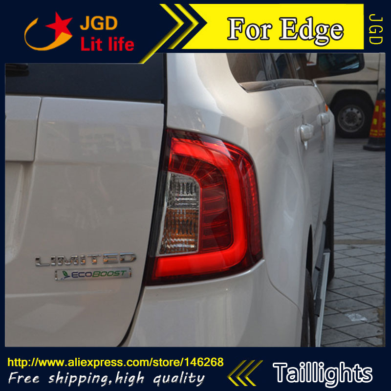 Car Styling tail lights for Ford Edge 2012 2013 2014 LED Tail Lamp rear trunk lamp cover drl+signal+brake+reverse diy rear trunk security shade hatch black cargo cover shade for ford edge 2011 2012 2013 only