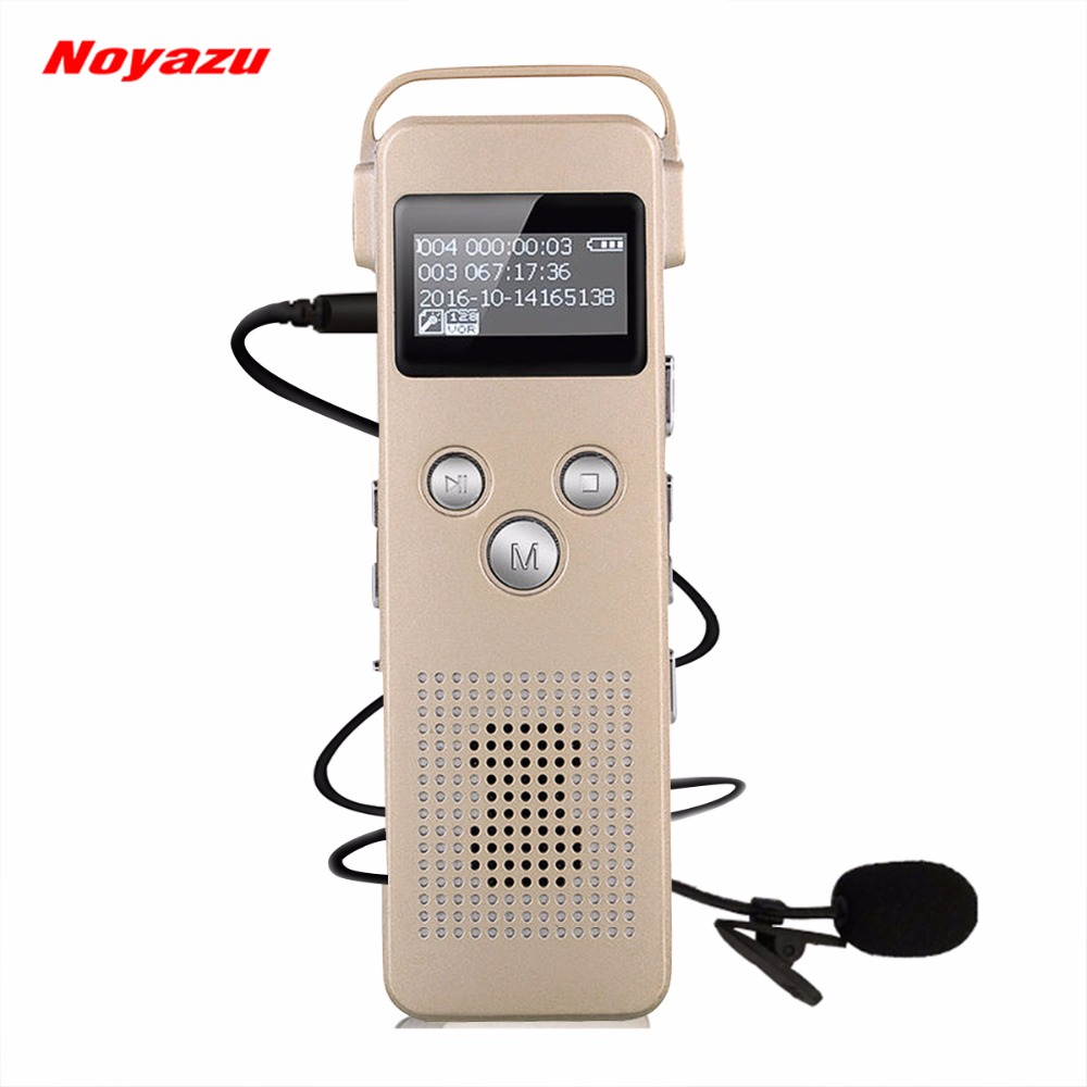 NOYAZU A20 16GB Digital Voice Recorder With Microphone Telephone Recording Professional Noise Reduction Sound Recorder Gifts
