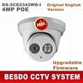 HIK 4MP câmera dome Ao Ar Livre IP POE onvif IPC web cam webcam night vision DS-2CD2342WD-I substituir 3345 DS-2CD3345-I