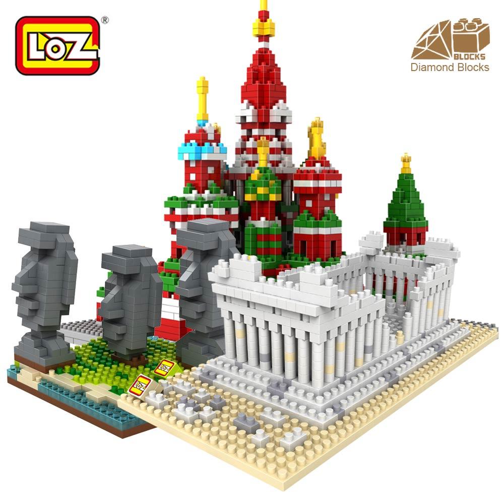 LOZ Blocks Architecture Toy For Kid Building Bricks City DIY Bricks Toys Mini Diamond Nano Blocks Assembly Model Famous House