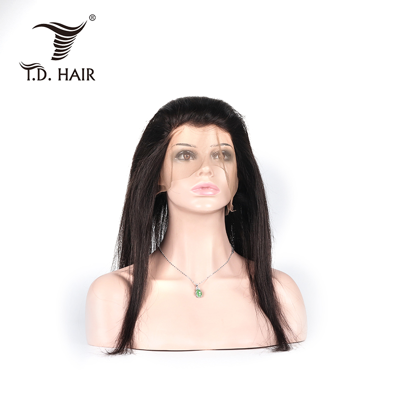 Tdhair Brazilian Straight 360 Lace Frontal 100% Human Hair With Baby Hair For Women Free Part