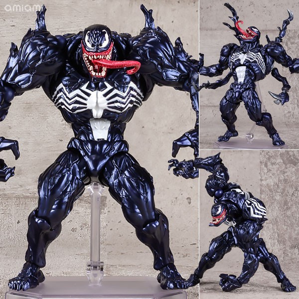 Revoltech Series NO.003 Venom from Spiderman PVC Action Figure Collectible Model Toy the amazing spider man venom carnage revoltech series no 008 action figure toy brinquedos figurals collection model
