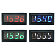 3 in 1 DIY Multifunction High-precision Clock Inside and Outside Car Temperature Battery Voltage Monitor Panel Meter DC 12V