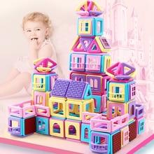 62-258 шт. Мини Магнитный конструктор Набор для строительства модели и строительные игрушки для детей магнитные блоки детские развивающие подарки