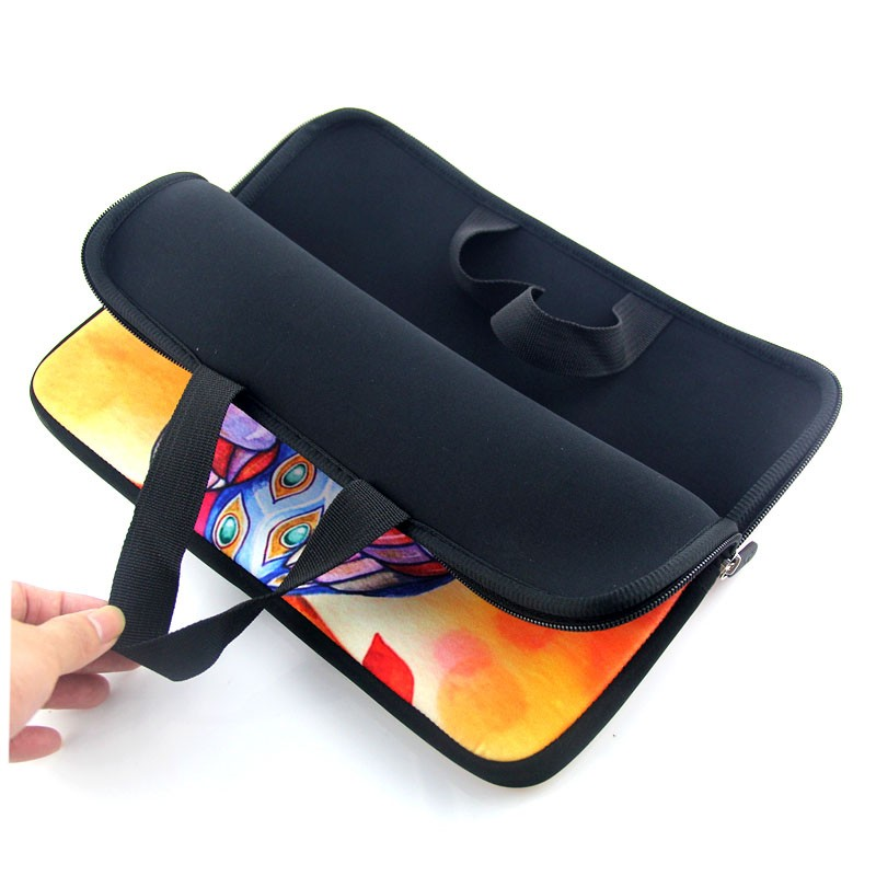 17 inch Feather laptop sleeve bag Notebook case with handle PC handbag 17 17.3 17.4 Netbook Cover Pouch For Macbook Pro