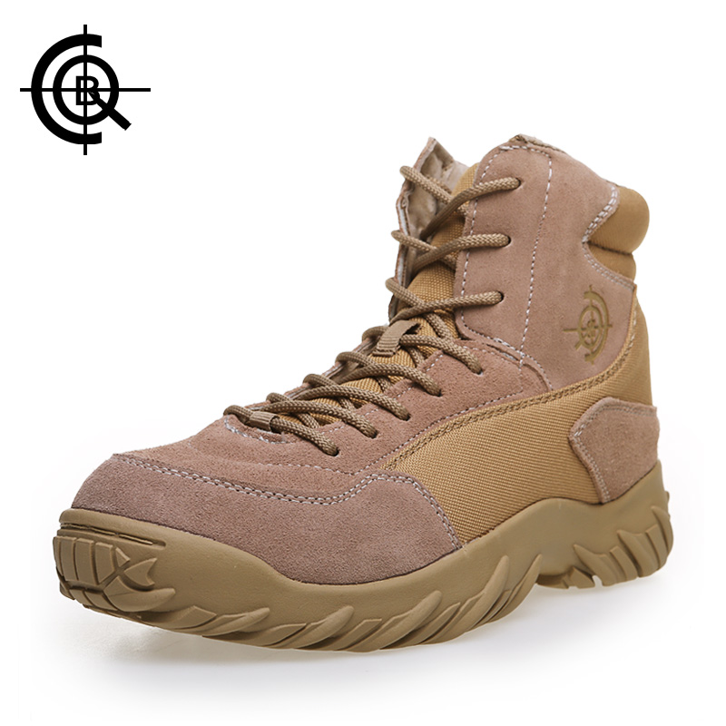 CQB Brand Men Military Boots Delta Tactical Desert Combat Boots Outdoor Hiking Shoes Trekking Autumn Men Climbing Shoes SL0015