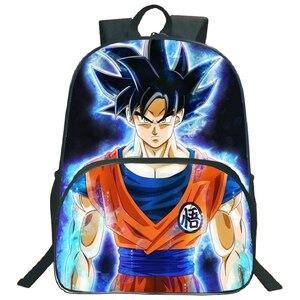 Image 1 - 아름다운 드래곤 볼 Z Goku 가방 어린이 소년 소녀 배낭 패션 다채로운 패턴 노트북 배낭 학교에 다시