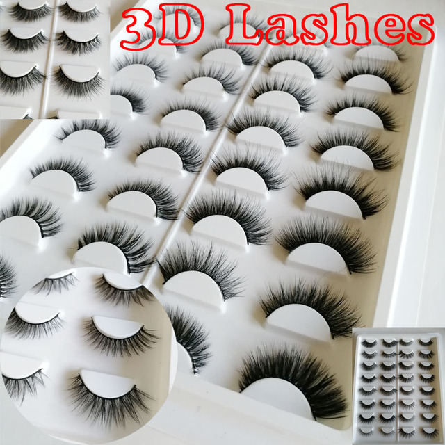 085a0429586 3D Silk lashes 3D faux mink Lashes 3D mink eyelashes 16 pairs lashes book  Thick long Lashes False Eyelash box eyelash book