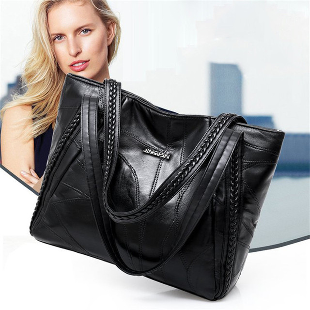Buy Women Tote Bag Genuine Sheepskin Patchwork Casual Hand Bags