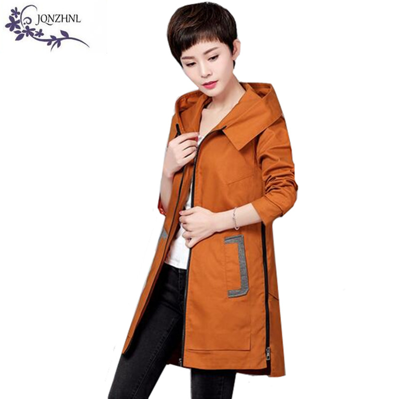 JQNZHNL Plus size Windbreaker Women Coats 2017 Spring ...