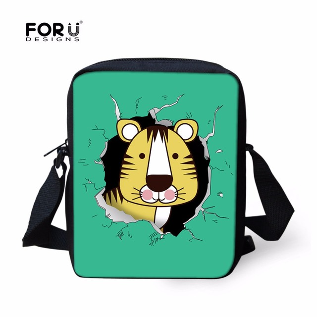 FORUDESIGNS 3D Cartoon Tiger Shoulder Bags For Kids Boys Girls Tiger Cute  Crossbody Bag Women Baby a0aaa8abf3f9b