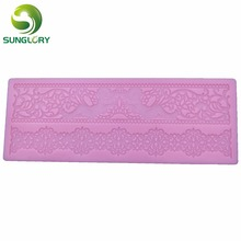 Flower Silicone Mold Cake Lace Mat Cake Decorating Tools DIY Cupcake Sugar Lace Mold Wedding Decoration Baking Fondant Mold cake border decoration lace mat sugracraft lace mold for fondant wedding cake decorating cake decorating tools bakeware lfm 27