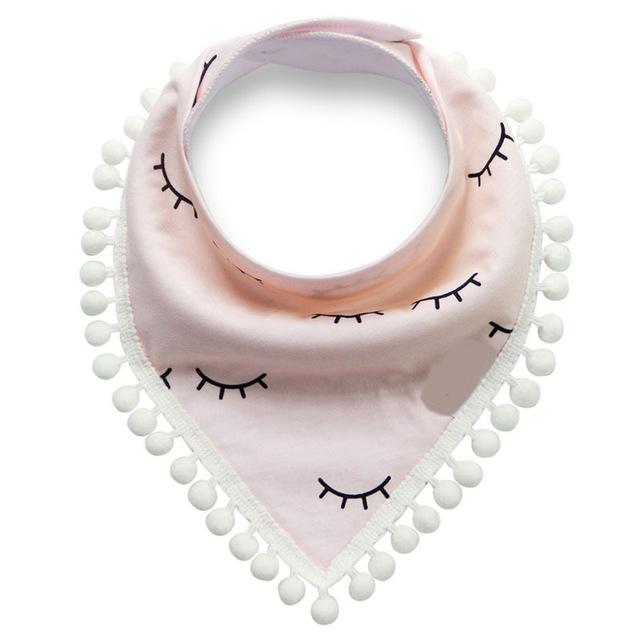Cotton Lace Tassel Bib