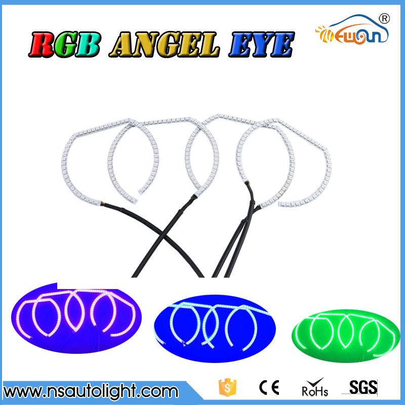 Horseshoe shape 2835 RGB Multi-Color LED  remote control  led Angel Eyes kit  for BMW F30 F31  F82 M3 M4  free shipping 4x xenon rgb remote multi color led angel eyes kit for bmw e90 2006 2008 e60