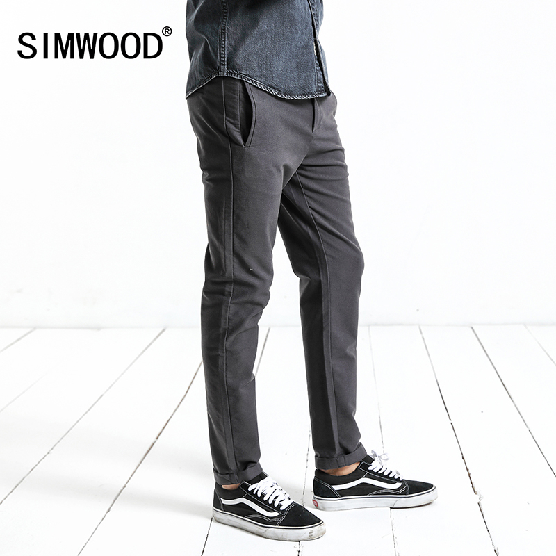Simwood 2017 Высокое качество Новый Мужская мода осень Брюки для девочек Для мужчин Брюки Для мужчин Бизнес Формальные повседневные штаны xc017015 ...
