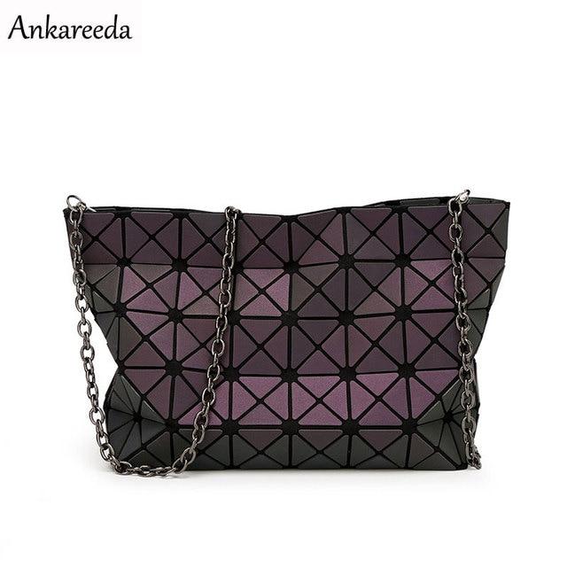 New 2016 Women Fashion Noctilucent Bao Bao Bag Geometry Package Folding Bags Crossbody Bag Women Famous Brand Messenger Bags