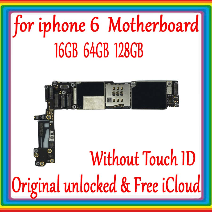 Original unlocked for iphone 6 Motherboard without Touch ID,Free iCloud for iphone 6 Mainboard 16GB / 64GB  / 128GB Logic board Original unlocked for iphone 6 Motherboard without Touch ID,Free iCloud for iphone 6 Mainboard 16GB / 64GB  / 128GB Logic board