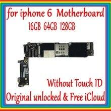 Оригинальная разблокированная материнская плата для iphone 6 без сенсорного ID, Бесплатная iCloud для iphone 6 материнская плата 16 Гб/64 Гб/128 ГБ логическая плата