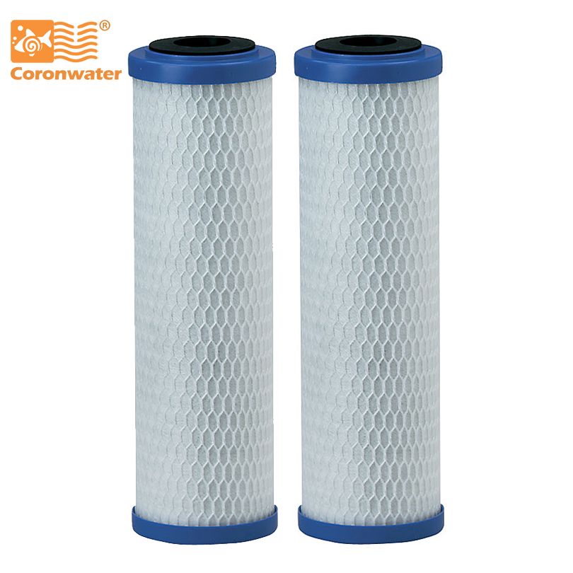 Activated Carbon Block Water Filter Cartridge 5 Micron For Water Purification EP-10