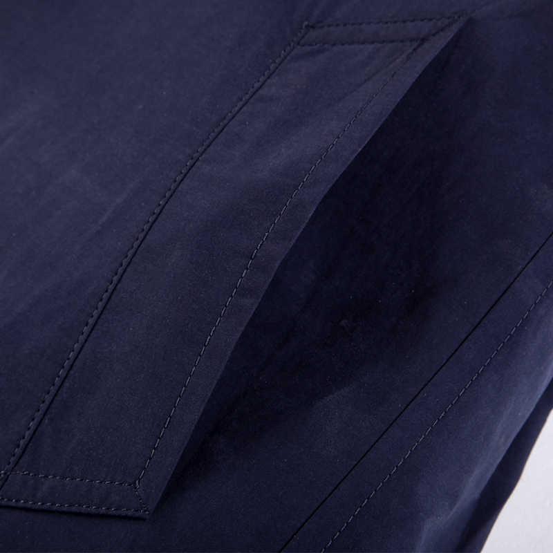 זאב אזור מותג מזדמן תעלת מעיל גברים אביב ובסתיו אופנה עסקי מעיל קלאסי Fit תורו למטה ארוך Mens מעיל