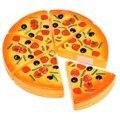 Pizza de corte de plástico toy food kitchen finja role playing toys para o desenvolvimento precoce e educação classic toys para crianças