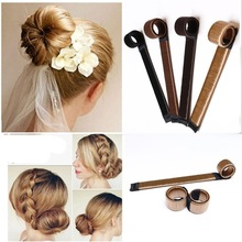 HOT 4pcs 3 Kinds Magic Hair Styling Accessories Set Braiders Hair