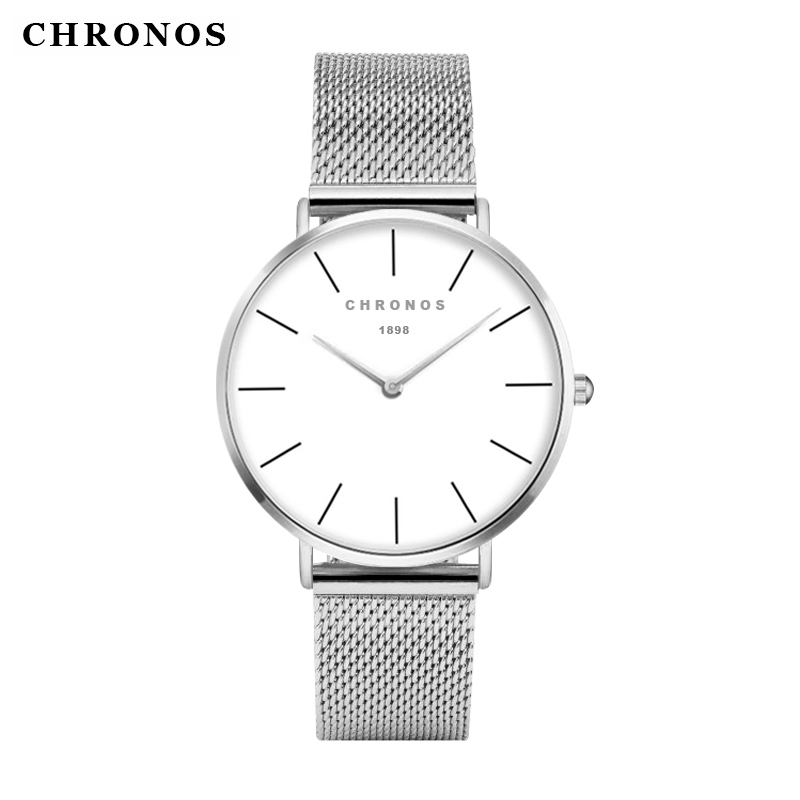 2018 New Mens Watches Luxury Brand Quartz Watch Stainless Steel Mesh Band Slim Men Gold Watch Fashion Women watch Reloj Hombre купить