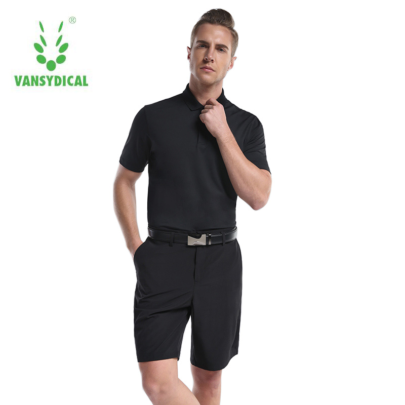 New High Quality Men Sports Golf Polo Shirt with Shorts Solid Clothing T Shirt Turn down Collar Breathable Sportswear Clothes